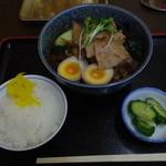 山吉 - 料理写真:冷やし肉そば ご飯はサービス