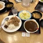 松屋 - カレ牛 & ポテサラ