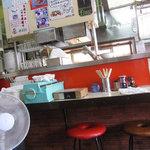 満福 - 厨房で作業しながら延々話しかけてくる店主