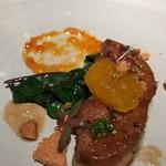 レストラン ラリューム - フォアグラのブランシャ焼き 黄金梅のハーモニー
