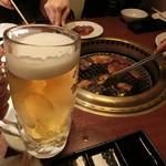 焼肉ブルズ亭 - 生ビール お替り(^^)