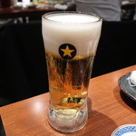 磯べゑ - サッポロ黒ラベル生ビール
