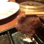 焼肉ブルズ亭 - タン塩(ファミリー盛り内)、レモンダレで