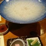 浜料理 侍 - カワハギの薄造り