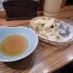 亀は萬年 - 松茸と新秋刀魚の天ぷら