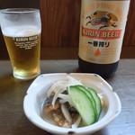 桃庵 - 料理写真:ビール&お通し