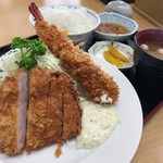 たかいし野 - 海老・ロースカツ定食