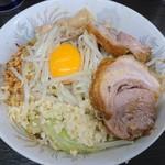 90373647 - 小汁なし(麺半分/ニンニク/アブラ)