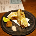 ぽんしゅや 三徳六味 - 甘鯛うろこ揚げ