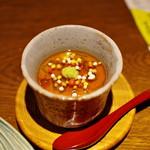 ぽんしゅや 三徳六味 - とうもろこしの冷たい茶碗蒸し