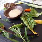 90385451 - 「有機野菜のバーニャカウダ」