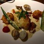 GRAND HOURS - 鮮魚のランチ 1450円 サーモンと白身魚の重ね焼き