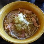 四季亭 - 料理写真:肉そば(冷)600円 山形県産(さがえ西村山産)そば粉使用