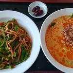 福源 - 料理写真:青椒肉絲飯、担々麺セット(700円)