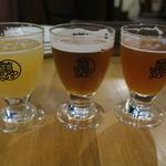 90394878 - ビール3種テイスティングセット:アルプスバイツェン、ザリッチビター、山椒W- IPA