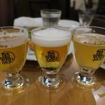 90394928 - ビール3種テイスティングセット:Jerkface 9000、エーデルピルス、ヒートアイランドダブルIPA