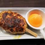 焼き鳥カフェ 鶏小屋 - 自家製つくね(月見)250円。