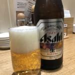 くろす - 瓶ビール焼き餃子セット♪ 700円