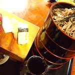 寿司ショップ彩 - ドバそば(握りセット)