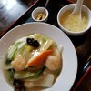 広華 - 料理写真:海老塩餡かけ焼きそば(ハーフ) 780円