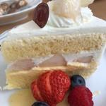 90401488 - 桃のショートケーキ