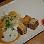 鉄板焼 天 - ランチコース(3800円)本日の海鮮焼き