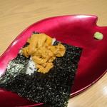 鉄板焼 天 - ランチコース(3800円)焼きウニ