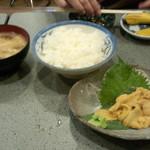 やきとり おくしり - うに定食(2100円)