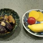 やきとり おくしり - 小鉢&香の物&デザート