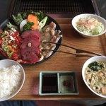 赤い唐辛子 - 料理写真:唐辛子自慢定食全景
