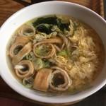 赤い唐辛子 - 玉子スープ