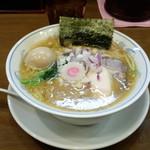 ら~めん曳舟 - 濃厚鶏醤油ラーメン(800円)+味玉(100円)
