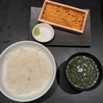 うに屋のあまごころ - 【板うに定食…1,580円税別】2018/7