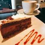 navi cafe - チョコレートケーキセット