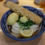 梅田 釜たけうどん - ちく玉天ぶっかけ(750円)