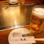 鉄板焼 えん - キリン一番絞り¥530