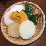 焼肉ハウス草原 - 焼き野菜セット¥400