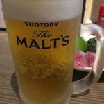 おか長 - 生ビール中290円♪
