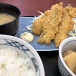 やしろ食堂 - 料理写真:アジフライ定食(680円)