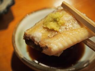 錦 - 鰻 白焼き(山葵醤油)