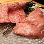 焼肉トラジ - 生タン&ミスジ