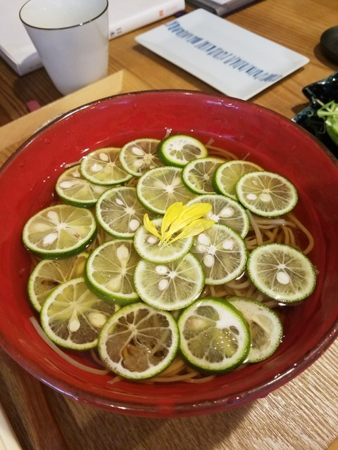 一草庵 紬 - 酢橘蕎麦