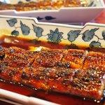 富松うなぎ屋 - うなぎ定食1785円(ごはん・吸い物・漬物)甘辛タレが旨い