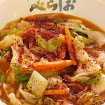 べらしお - 濃厚辛味噌そば780円…辛さ4段階!野菜と辛味噌のパンチあるうまさ。