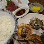 磯料理ヨット - オーダーしたヨット定食