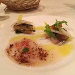トラットリア・バッフォ - 前菜三種盛り合わせ