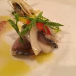 トラットリア・バッフォ - 鯖の酢漬け