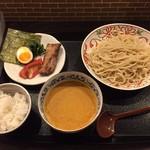 なんだっ亭 - 冷やしトマトカレーつけ麺(小ライス付き)900円