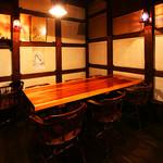 倉敷蔵酒場 七輪焼さくら亭 - 6人のテーブル席