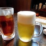 翔龍 - 生ビール(中ジョッキ)& ウーロン茶